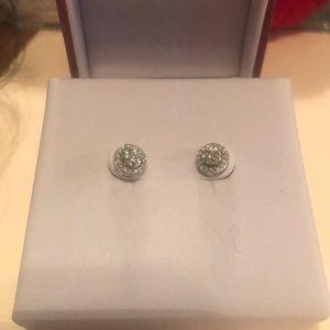 Helzberg 1/4 carat diamond earrings